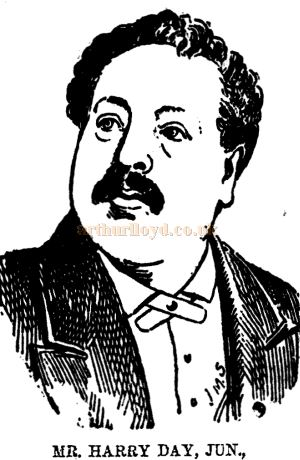 Mr. Harry Day, Jun., sole lessee and manager of the Grand Theatre of Varieties, Cardiff when it first opened in 1887 - From the Western Mail, 30th July 1887.