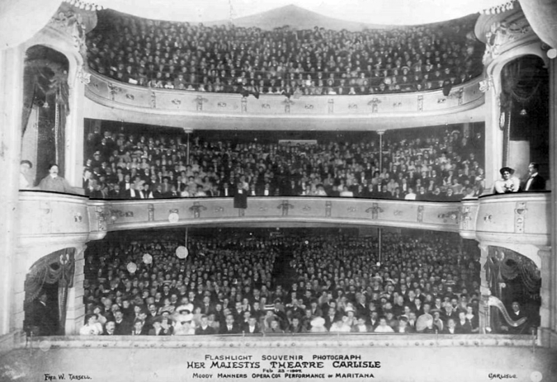 The auditorium of Her Majesty's Theatre, Carlisle with a packed audience for a performance of the Moody Manners Opera Company production of 'Maritana'.