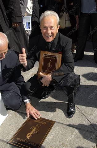 "Charlie Gracie and his Bronze Plaque on the ""Avenue of the Arts"" in Philadelphia- Photo Courtesy Charlie Gracie Junior."