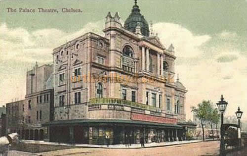 An early postcard depicting the Chelsea Palace Theatre.