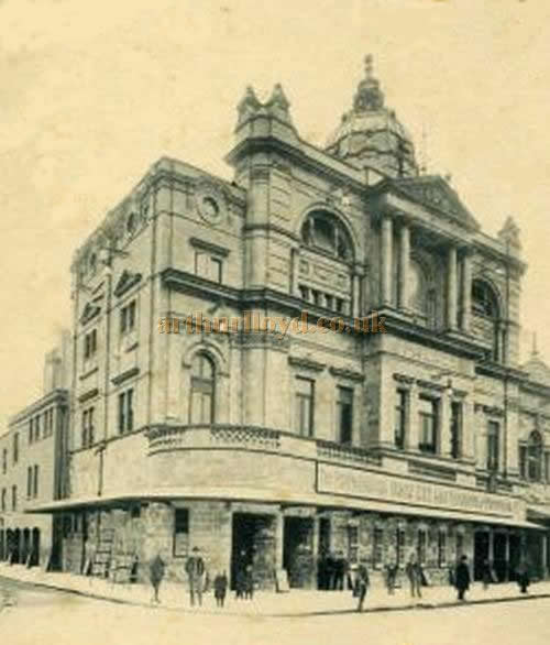 An early postcard depicting the Chelsea Palace Theatre