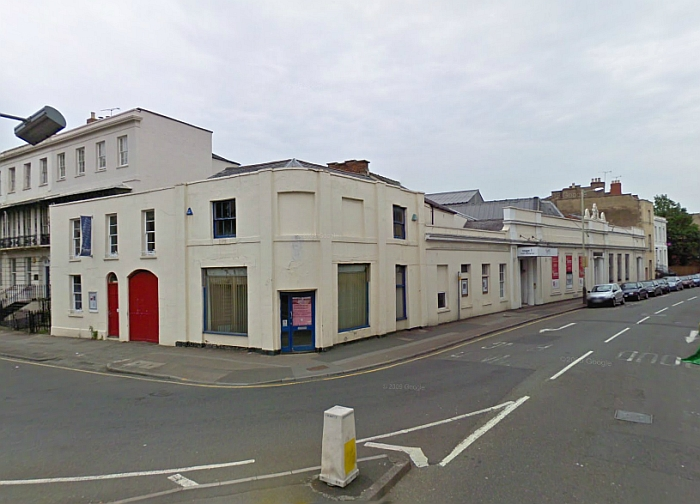 A Google Streetview image of the Cheltenham Playhouse - Click to Interact