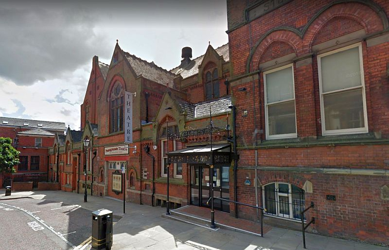 A Google StreetView Image of the Pomegranate Theatre, Chesterfield - Click to Interact.