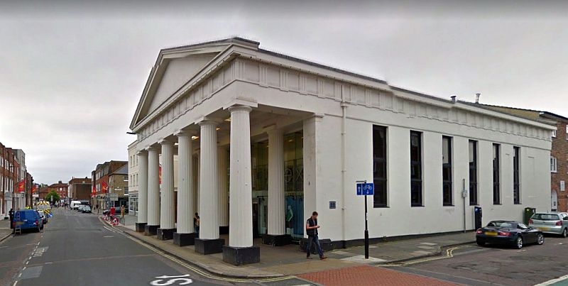 A Google StreetView Image of the former Corn Exchange, Granada Exchange, Chichester - Click to Interact.