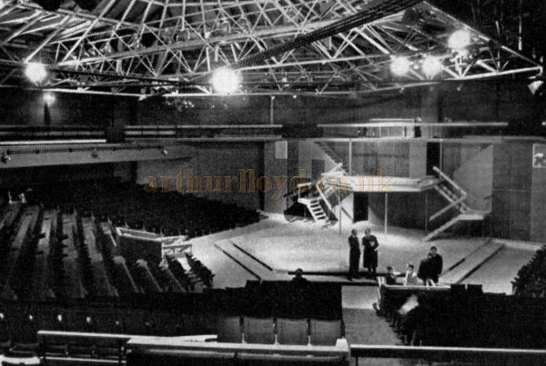 The Auditorium and stage of the Festival Theatre, Chichester when it was first built in 1962 - From 'Theatre World', July 1962.