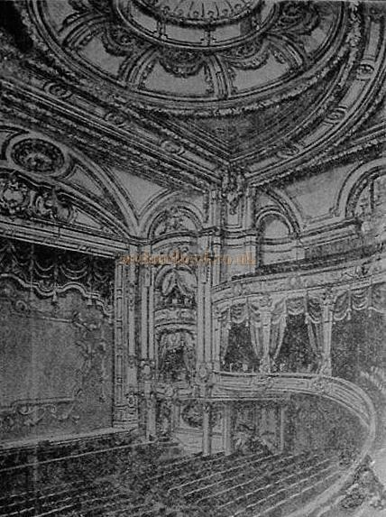 The auditorium of the Chiswick Empire - From a newspaper cutting which was framed and hung in the Pack Horse Inn, a Public House situated next door to the Theatre - Courtesy John West.