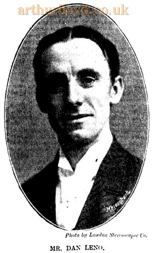 Dan Leno - From the ERA, 1st of December 1900.