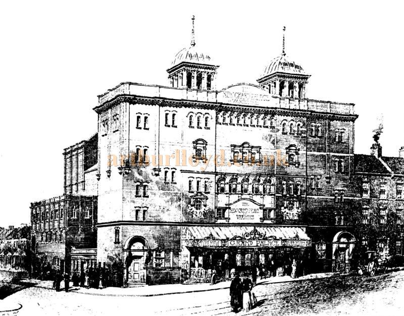 An Engraving of the Grand Palace of Varieties, Clapham Junction - From the ERA, 1900