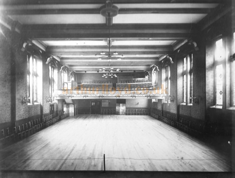 An early photograph of the interior of Munt's Hall - Courtesy The Munt Family Archive