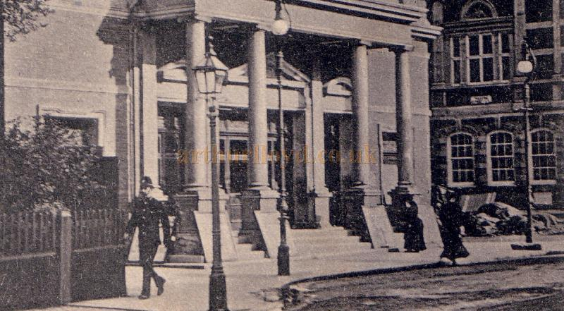 Detail from an early postcard of the Shakespeare Theatre, Clapham Junction