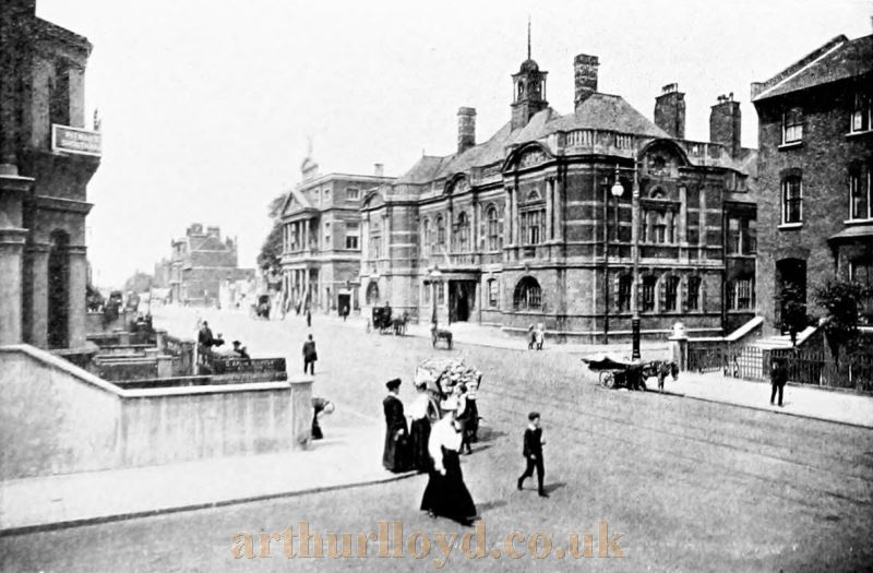 The Battersea Town Hall and Shakespeare Theatre - From the 'Premier Photographic View Album of London' 1907