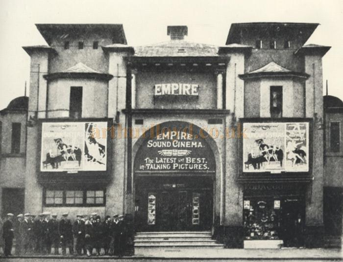 An early photograph of the Empire Sound Cinema, formerly the Empire Pleasure Palace, Clydebank - Courtesy Graeme Smith.