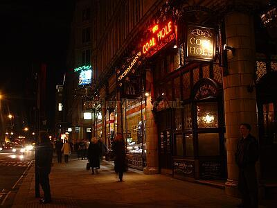 The present Coal Hole Public House, looking up the Strand. - M. L. 2003