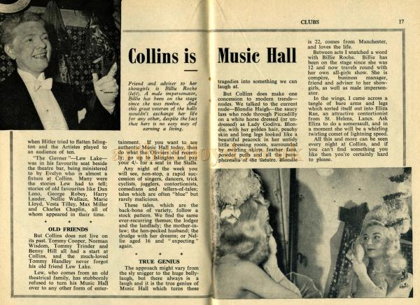 A Peep Behind the Scenes of Collins Music Hall