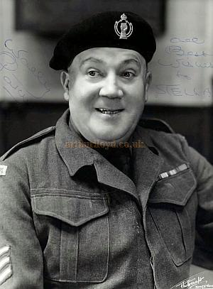 Signed Photograph of Wally Patch from 'Reluctant Heroes' - Courtesy Phil Jackman.