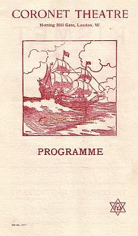 Programme giving details of a repertory season by Miss Horniman commencing on the 10th of June 1912.