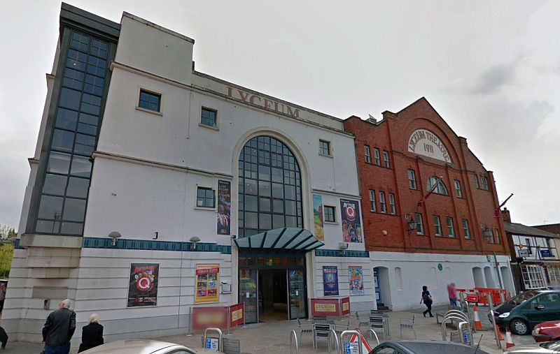 A Google StreetView Image of the Lyceum Theatre, Crewe - Click to Interact.