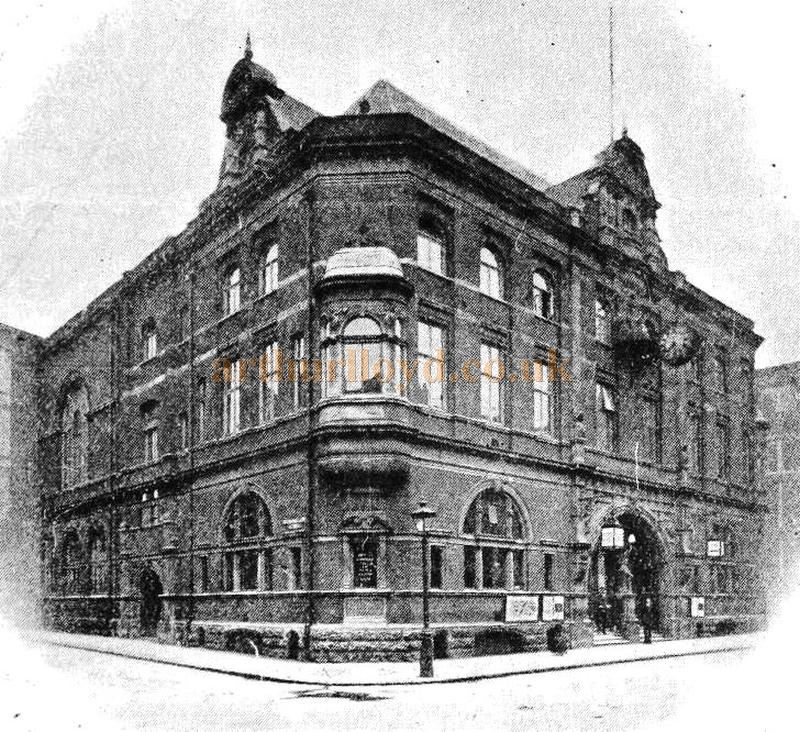 An early image of the Cripplegate Institute building before its later alterations and enlargement - From the Cripplegate Foundation report of the governors for 1906.