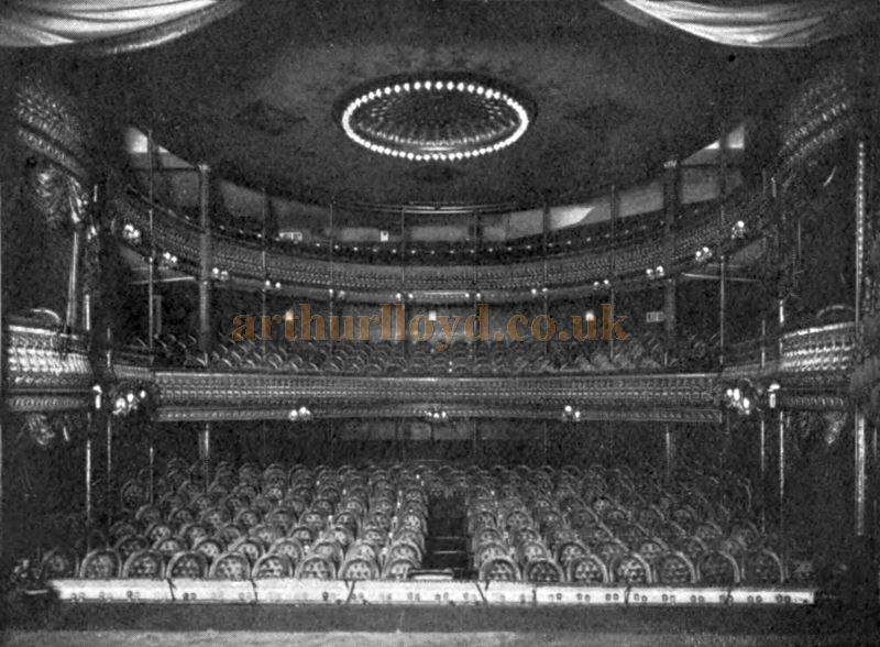 The Auditorium of the Criterion Theatre - From a Souvenir Book called 'The Criterion Theatre 1875-1903' by T. Edgar Pemberton.