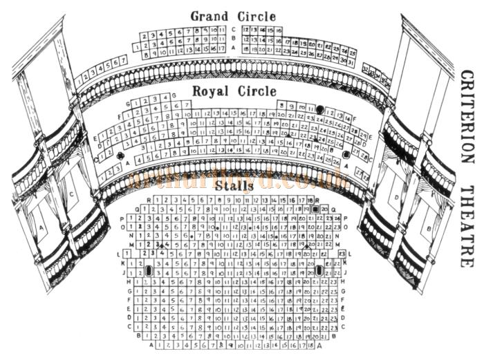 A Mid 1920s Seating Plan for the Criterion Theatre
