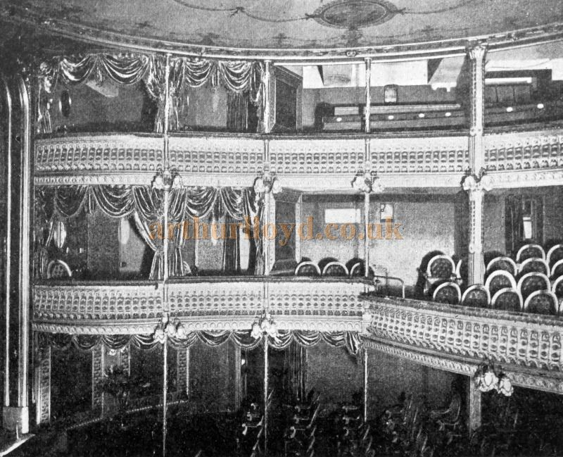 The Auditorium of the Criterion Theatre - From 'Modern Opera Houses and Theatres' by Edwin O Sachs, Published 1896-1898, and held at the Library of the Technical University (TU) in Delft - Kindly sent in by John Otto.