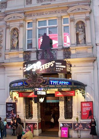 The Criterion Theatre Entrance during the run of 'The 39 Steps' in October 2006 - Photo M.L.