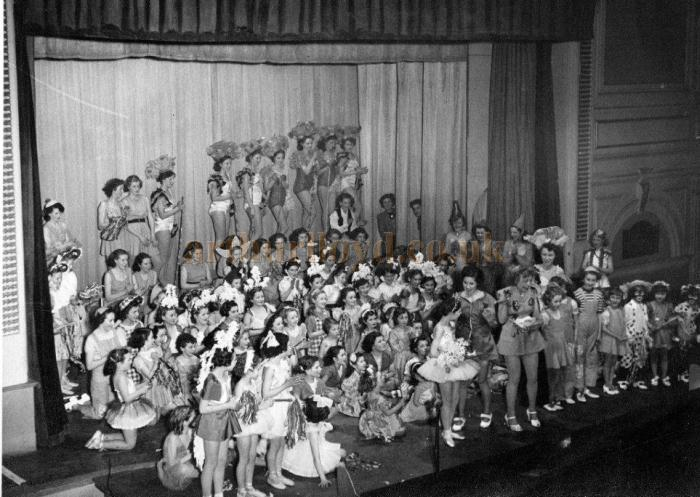 The Joan Rodney-Deane Academy in their yearly Dancing Display and Medal Awards Ceremony at the Civic Hall, Croydon on the 29th of January 1952 - Courtesy Sandra Shire.