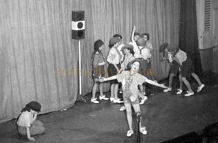Sandra Shire on stage at the Civic Hall, Croydon on the 29th of January 1952 - Courtesy Sandra Shire whose Grandmother worked at the Catford, Penge, and Croydon Empires.