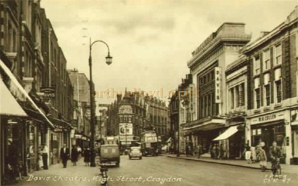 The Davis Theatre, Croydon - From a Postcard