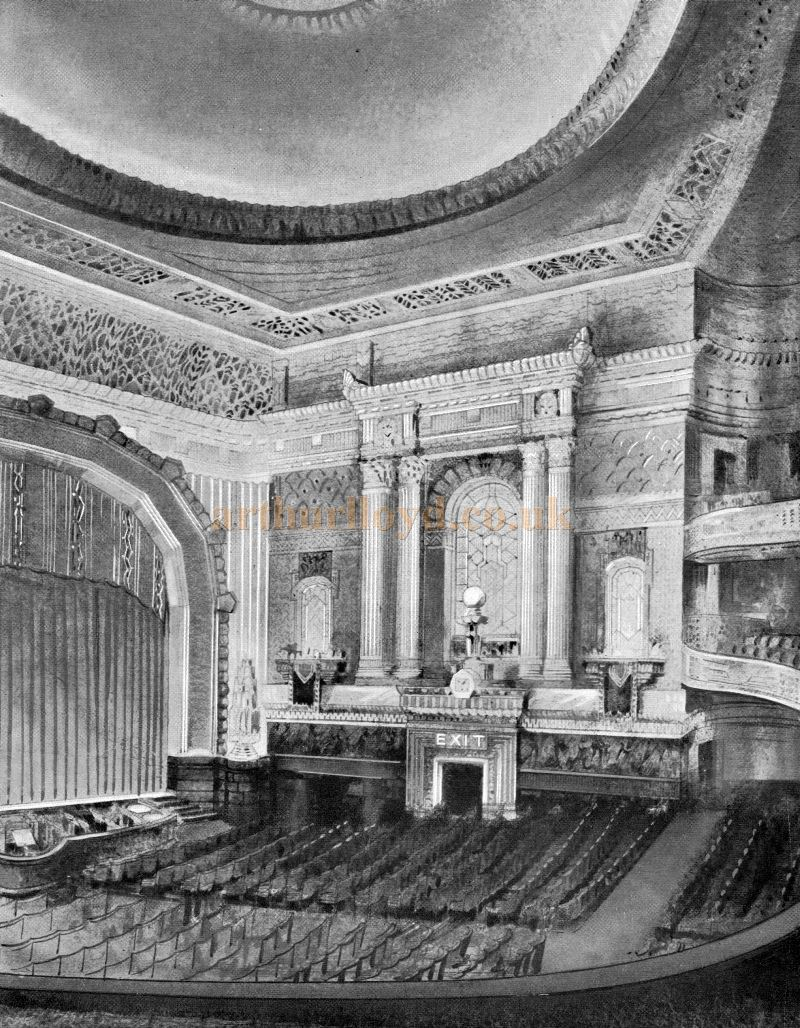 The Auditorium of the Davis Theatre, Croydon - From the opening souvenir programme for the Theatre, 18th of December 1928.