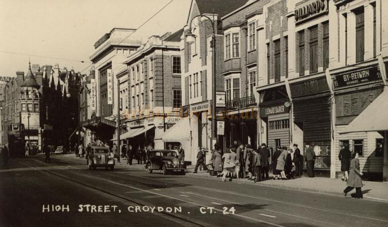 The Davis Theatre and High Street, Croydon - From a contemporary Postcard, Courtesy Gavin Wood.