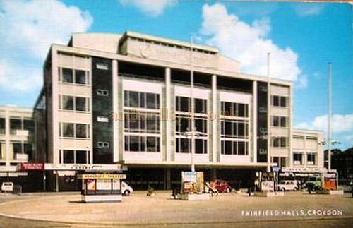 A Postcard depicting the Fairfield Halls, Croydon in 1975.