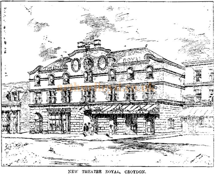 A sketch of the New Theatre Royal, Croydon - From the ERA, 8th July 1899