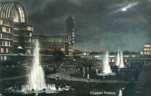 A Postcard showing the Crystal Palace at Sydenham.