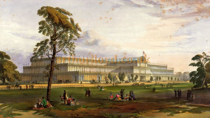 The Original Crystal Palace in Hyde Park - From Dickinsons' Comprehensive Pictures of The Great Exhibition of 1851 from the originals painted for H. R. H. Prince Albert by Messrs Nash, Haghe, and Roberts R.A.