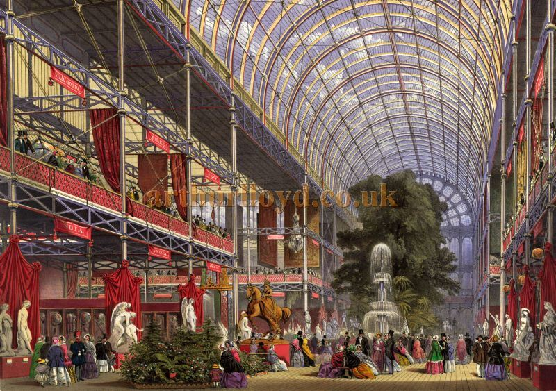 Above - The Original Crystal Palace in Hyde Park - From Dickinsons' Comprehensive Pictures of The Great Exhibition of 1851 from the originals painted for H. R. H. Prince Albert by Messrs Nash, Haghe, and Roberts R.A.