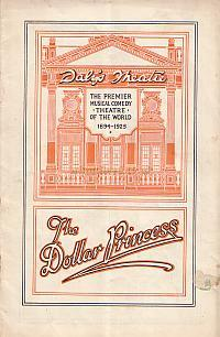 Programme for 'The Dollar Princess' at Daly's Theatre in 1925 but first produced at Daly's in 1909.