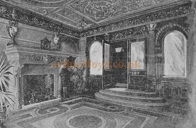 The entrance hall of Daly's Theatre - From a Programme for the Second Edition of 'An Artist's Model' at Theatre in September 1895 - Click to see the entire Programme.