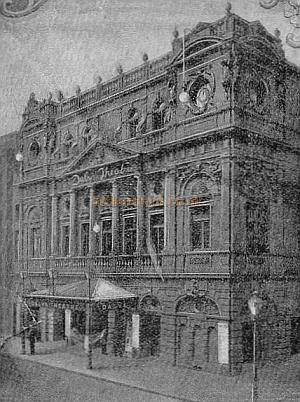 Daly's Theatre - From a Programme for the Second Edition of 'An Artist's Model' at Theatre in September 1895 - Click to see the entire Programme.