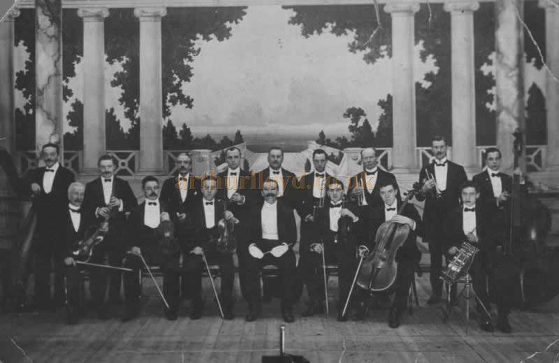The Dewsbury Empire orchestra in 1911 - Courtesy Peter Lindup.