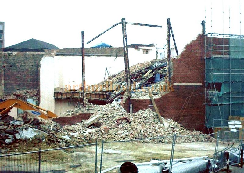 Demolition of the Dewsbury Playhouse in 2002 - Courtesy Ron Lake.