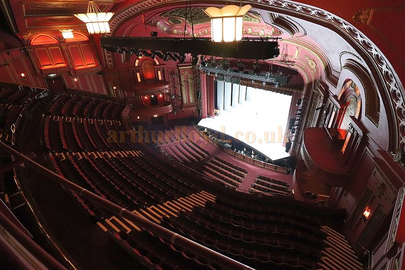 The Auditorium And Stage From Now Blocked Off Balcony Of Dominion Theatre In August
