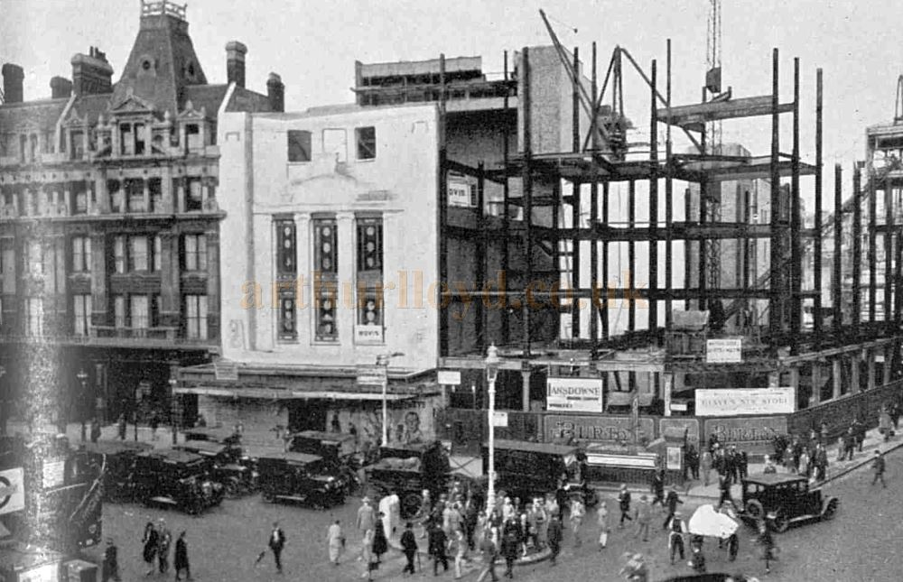 The Dominion Theatre under construction and shortly before it's opening in 1929 - From The Sphere, August 31st 1929.