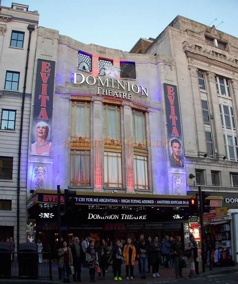 The Dominion Theatre during the run of 'Evita' in October 2014 - Photo M.L.