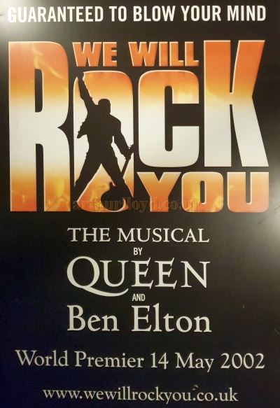 'We Will Rock You' Dominion Theatre Premier Poster