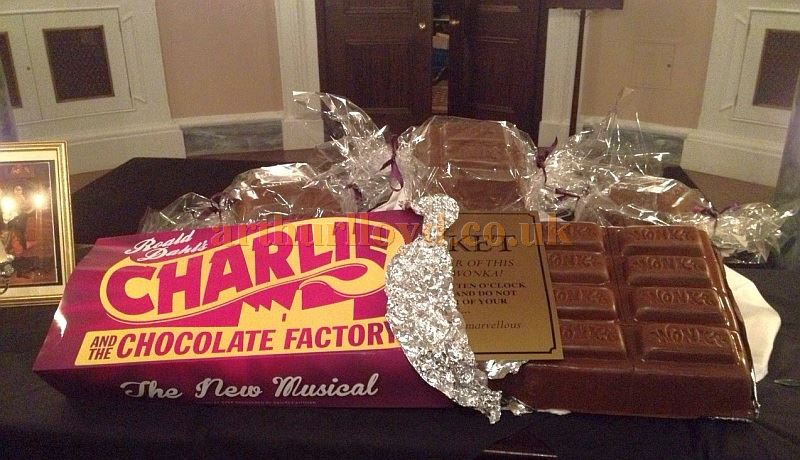 The Charlie & The Chocolate Factory Baddeley Cake at the Theatre Royal, Drury Lane on the 6th of January 2015.