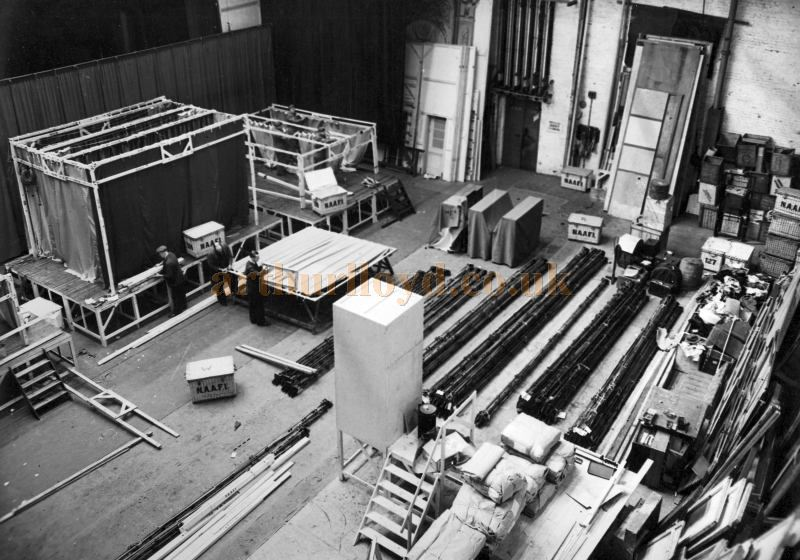 The Stage of the Theatre Royal, Drury Lane during the war years whilst shows were being built for ENSA - Courtesy Alan Siggers