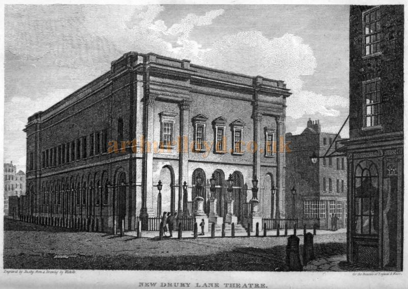 The Fourth and Present Theatre Royal Drury Lane shortly after it was first constructed in 1812 - From 'London and Middlesex' Volume 3 Part 2 1815