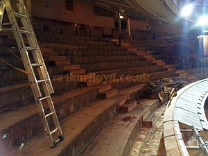 The Theatre Royal, Drury Lane being re-seated in July/August 2008 - Courtesy Piers Caunter.