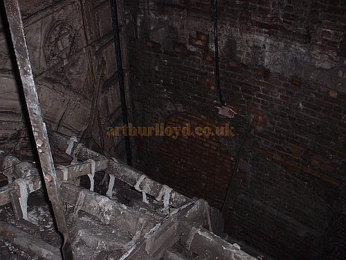 A photograph taken inside the present Drury Lane roof void  - M.L. 2004.